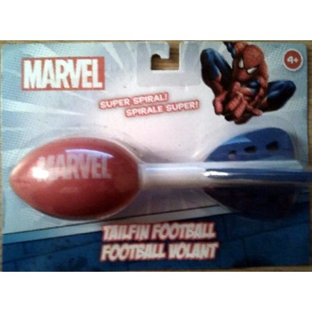 Spiderman Tailfin Football, toy soft football for ages 4 and up By Marvel
