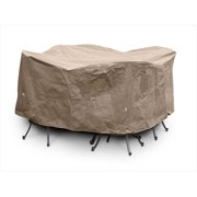 KoverRoos KoverRoos III 84 in. Taupe Large Bar Set Cover with Umbrella Hole