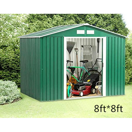 Outdoor Garden Sheds Clearance Storage Shed Tool House Backyard Warehouse 8ftx8ft Lawn Building Garage