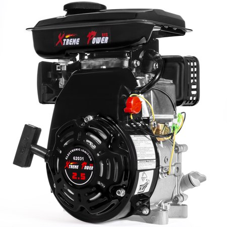 XtremepowerUS 2.5HP 4-Stroke OHV Horizontal Shaft Gas Engine (79.5cc) Replacement EPA Motor ()