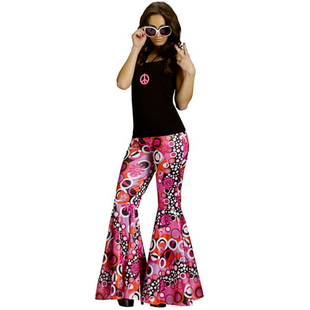 Flower Child Bell Bottoms Women's Costume (Stretchy Bell Bottom Pants)