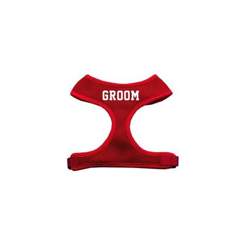 Mirage Pet Products 70-35 MDRD Groom Screen Print Soft Mesh Harness Red Medium