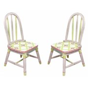 Fantasy Fields W-3809G Crackled Rose Set of 2 Chairs