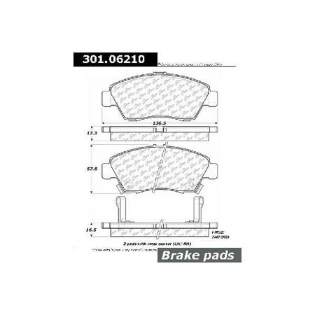 Go-Parts » 2004-2005 Honda Civic Front Disc Brake Pad Set