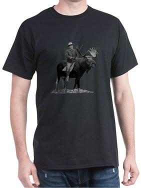 12eca873 Product Image Teddy Roosevelt Riding A Bull Moose T-Shirt - 100% Cotton T- Shirt