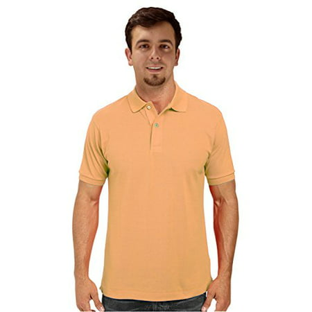 - Peach Couture Mens Short Sleeve Classic Pique Polo Shirt