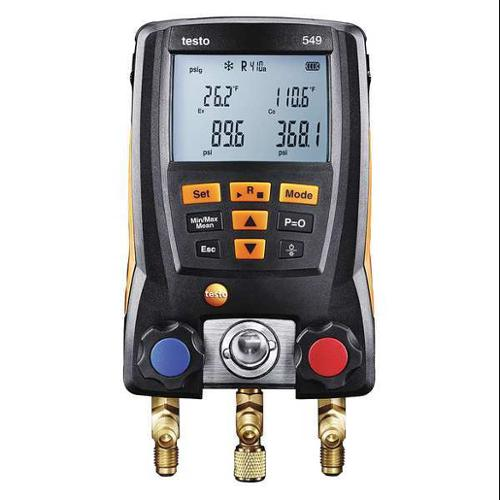 TESTO 0560 0550 Digital Manifold Gauge, 2 Valves