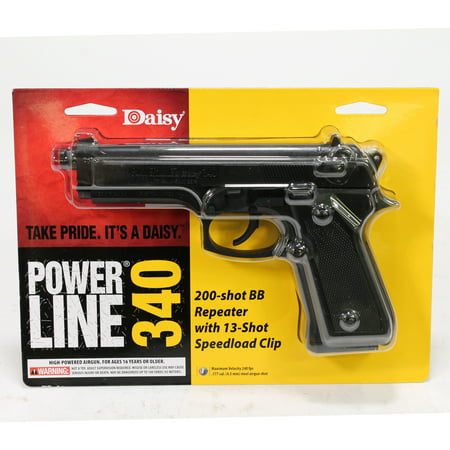 Daisy Powerline 340 Air Pistol, .177 cal (Colt 1911 Co2 Pistol 17 Rds Metal Magazine)