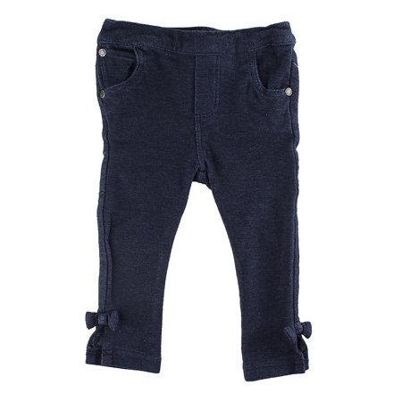 """Disney Store Baby Girls Mickey Mouse """"Blue Jeans"""" Stretch Jeggings, Denim Blue, 9-12 Months"""