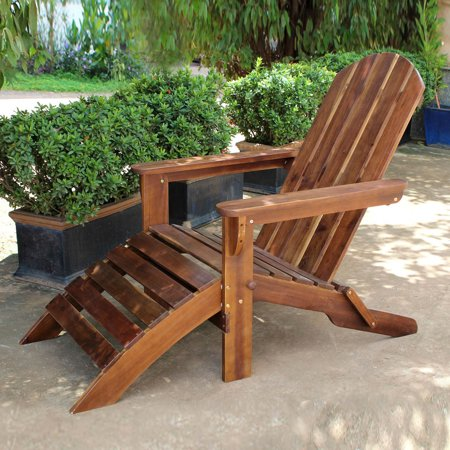 Painted Adirondack Footrest - Highland Adirondack Chair with Attached Footrest