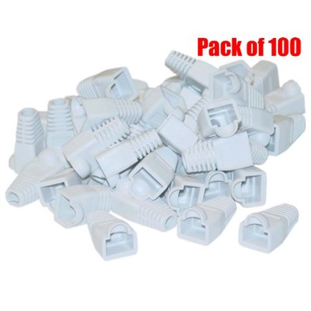 Rj 45 Strain Relief Boot (iMBAPrice RJ45 White Ethernet Strain Relief Boots (Pack of 100))