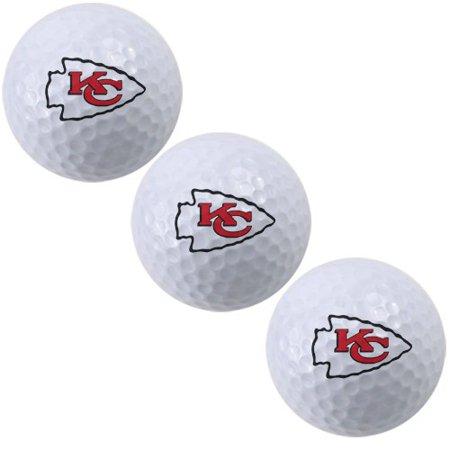 Kansas Logo Golf Balls (McArthur Kansas City Chiefs 3-Pack of Team Logo Golf Balls - No Size )
