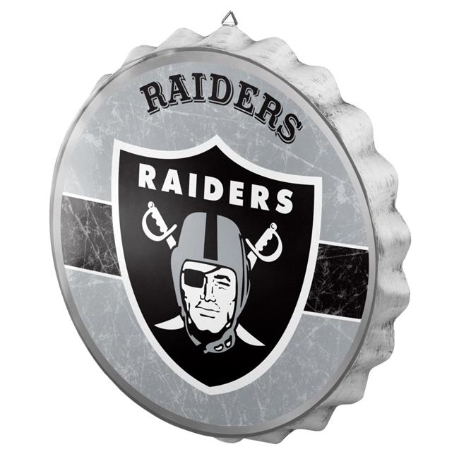 Forever Collectibles 9141884275 Oakland Raiders Sign Bottle Cap Style Distressed - image 1 of 1