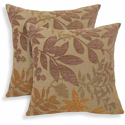 Bristol Chenille Jacquard Leaf Toss Pillow, Set of 2