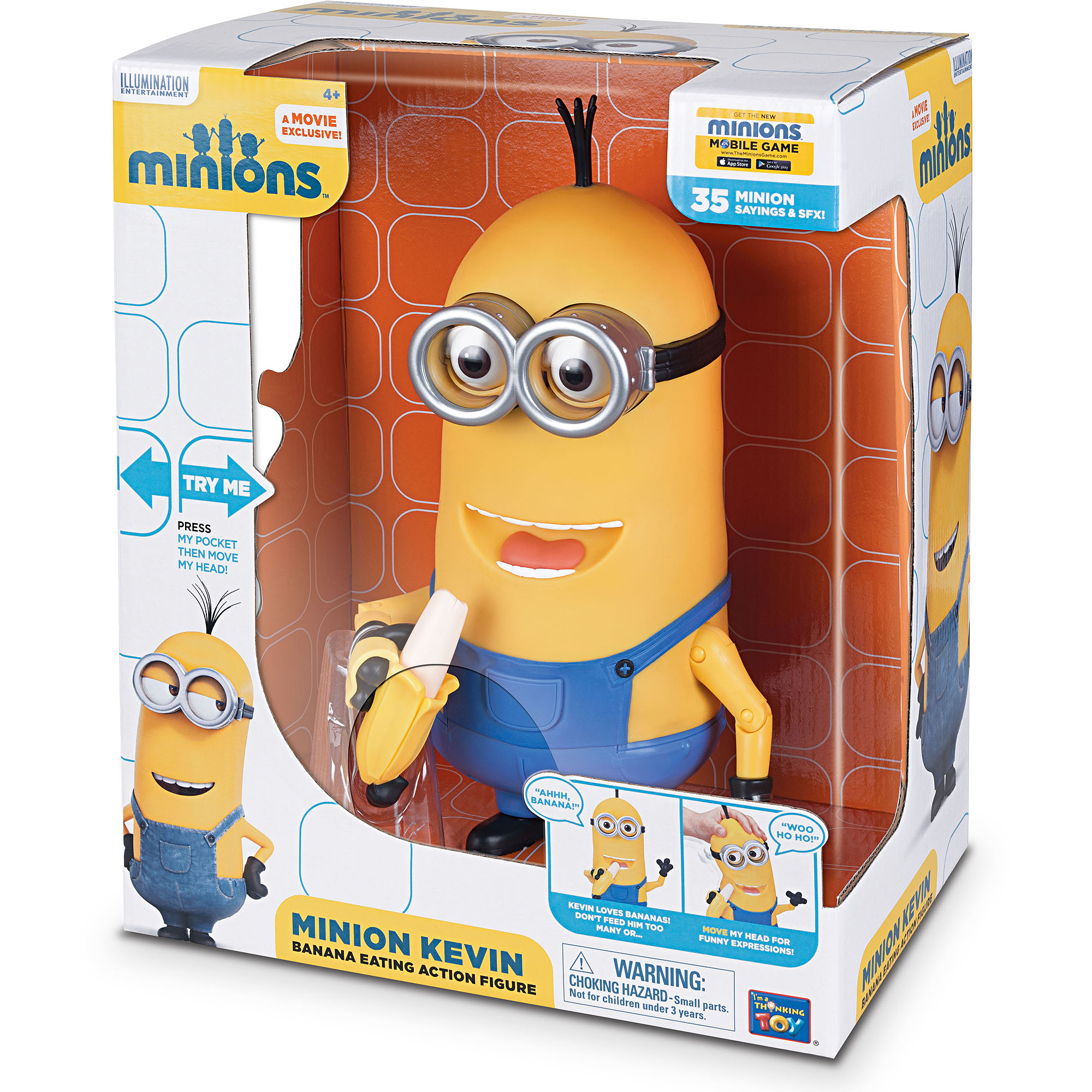 Minion Kevin Banana Eating Action Figure Walmart