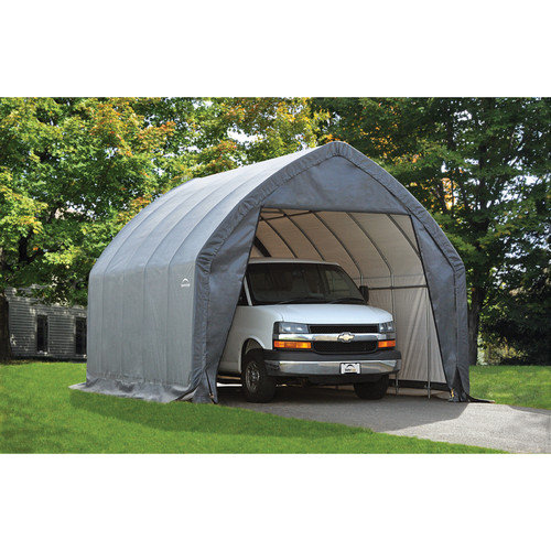 ShelterLogic 13'x20'x12' Garage-in-a-Box Peak Style for SUV or Truck in Gray