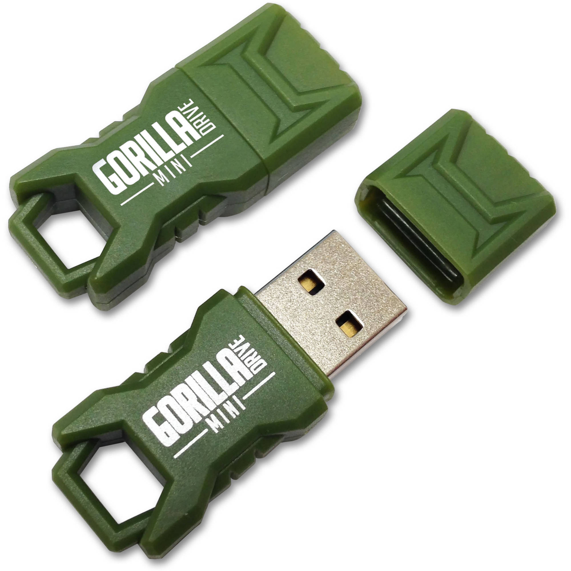 EP Green Mini GorillaDrive 128GB Rugged USB Flash Drive