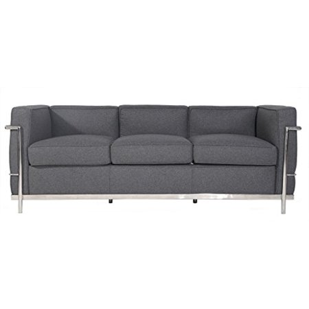 Astounding Mlf Le Corbusier Style Lc2 Sofa Multi Colorssize Available 3 Seater Light Grey Cashmere Wool Short Links Chair Design For Home Short Linksinfo