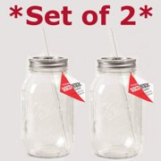 Red Nek Guzzler Drinking Jar, 32oz - Set of 2