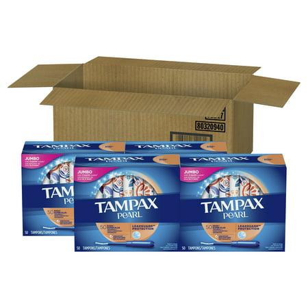 TAMPAX Pearl, Super Plus, Plastic Tampons, Unscented, 200 (Super Plus Tampons)