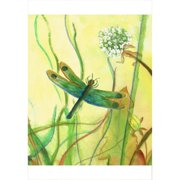 Betsy Drake Interiors Garden Dragonfly Painting Print on Canvas