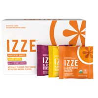 IZZE Bursts Organic Fruit Snacks, 3 Flavor Variety Pack, 0.8 oz Pouches, 18 Count