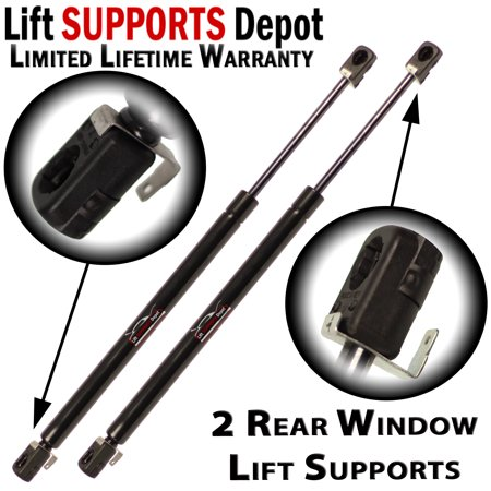 Chevrolet V1500 Suburban Window (Qty (2) Fits Chevrolet Suburban, Fits GMC Yukon 1992 1993 early 1994 Rear Window Glass Lift Supports With Defroster - PM2035 )
