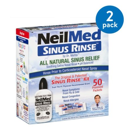 (2 Pack) NeilMed Sinus Rinse, 1.0 CT