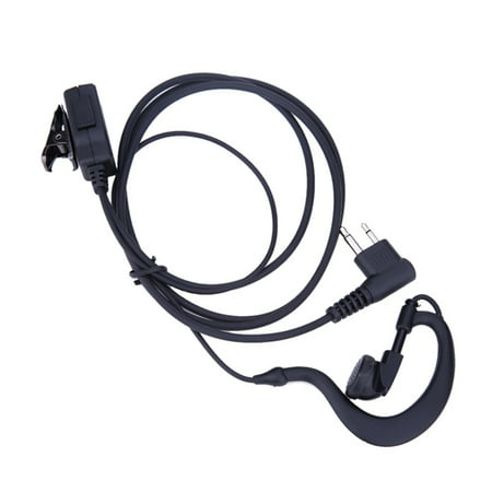 2 Pin Acoustic Tube Earpiece Mic PTT Headset for Motorola Radios GP88 GP300 Walkie Talkie (Motorola Compact Headset)