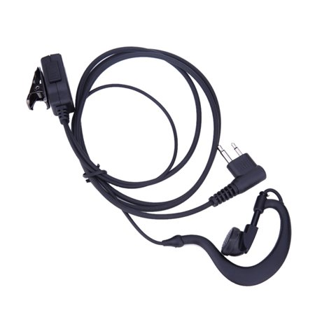 2 Pin Acoustic Tube Earpiece Mic PTT Headset for Motorola Radios GP88 GP300 Walkie Talkie Earpiece