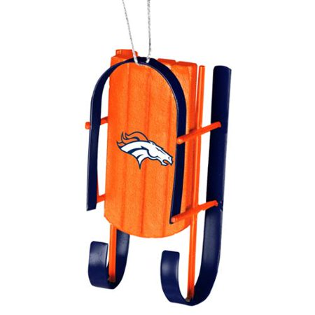 Denver Broncos Official NFL Sled Christmas Ornament by Forever Collectibles