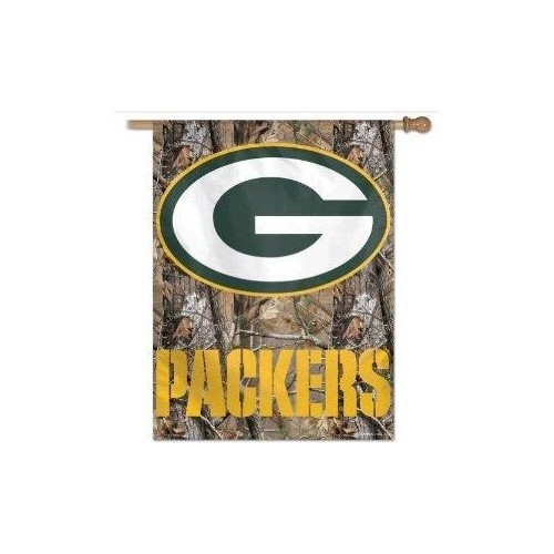 Green Bay Packers Camouflage Vertical Flag