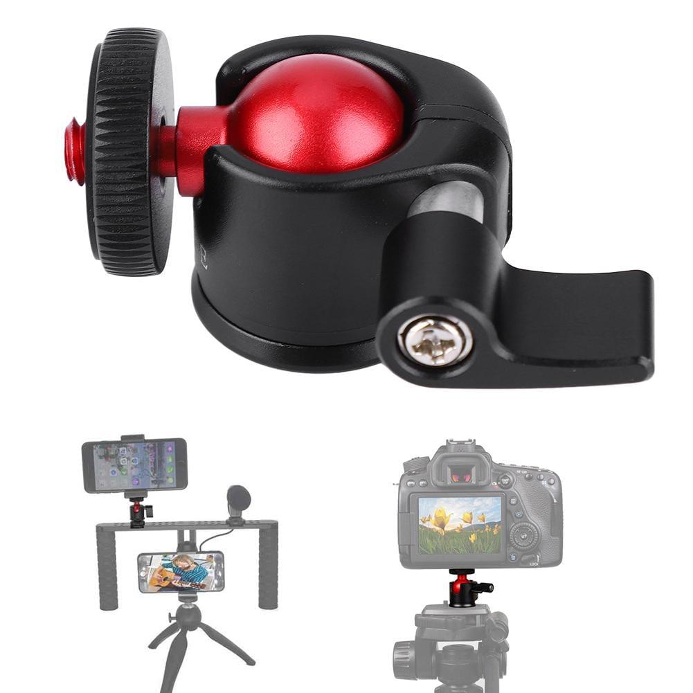 Aluminum Tripod,Mini Ball Head Adapter Metal 360 Degree Swivel Mini Ball Head 1//4 Screw Mount Camera Ball Head for DSLR Camera Fill Light