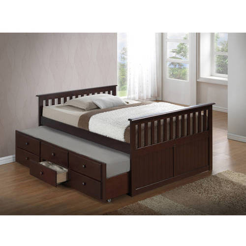 broyhill kids marco island full bed with trundle espresso