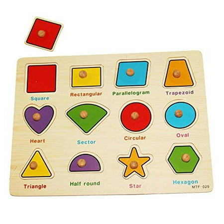 dazzling toys Kids Favorite Various Shapes Wooden Puzzle. (Children Shapes)