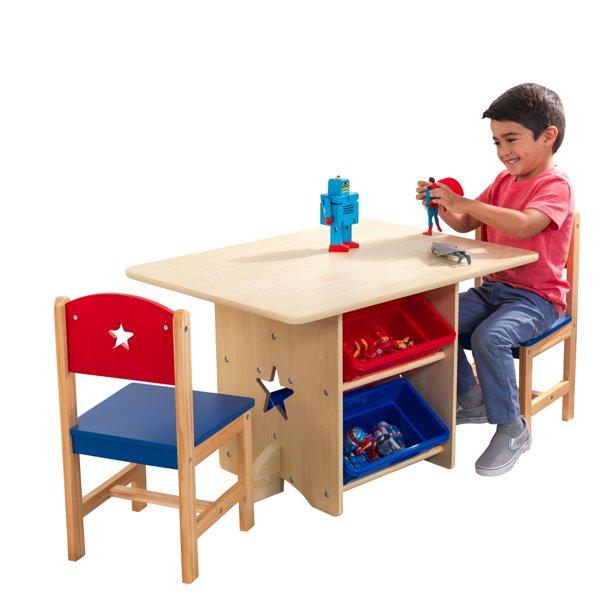 KidKraft KidKraft Wooden Star Table & Chair Set with 4 Storage