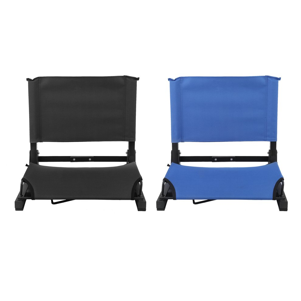Folding Portable Stadium Bleacher Cushion Chair Durable Padded Seat With Back by LESHP