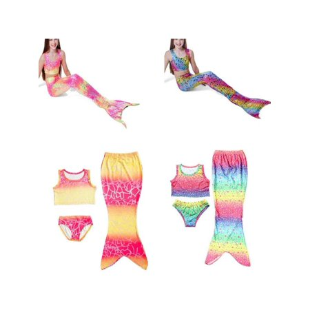 86857e753d 3Pcs Swimsuit Girls Kids Mermaid Tail Swimmable Bikini Set Swimwear  Swimsuit Swimming Costumes Girls Gift - Walmart.com