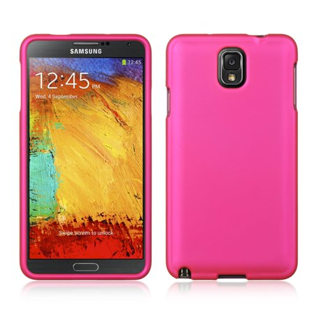 Hot Pink Rubber Case - DreamWireless Rubber Coated Hard Snap-in Case Cover For Samsung Galaxy Note 3, Hot Pink
