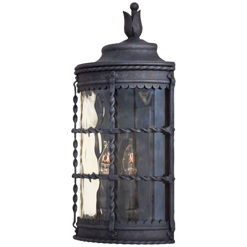 Kingswood Iron Two-Light Outdoor Wall Sconce by