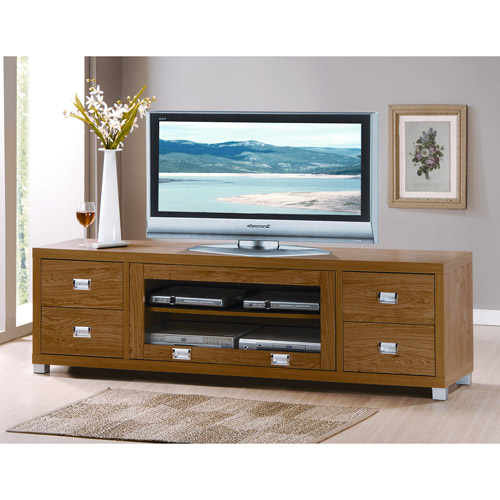 Kodiak Maple TV Stand with 4 Drawers, for TVs up to 60""