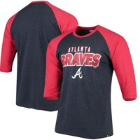 Atlanta Braves '47 Club 3/4-Sleeve Raglan T-Shirt - Navy