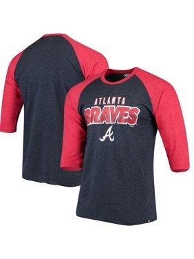 c43e0c5aba85fb Product Image Atlanta Braves  47 Club 3 4-Sleeve Raglan T-Shirt - Navy.