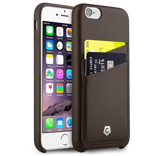 """CobblePro For Apple iPhone 6 6s 4.7"""" PU Leather Designer Wallet Case with ID Credit Card Slot Holder Back Cover - Brown (Ultra Slim)"""