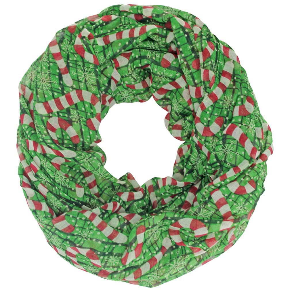 Luxury Divas Christmas Holiday Print Infinity Scarf