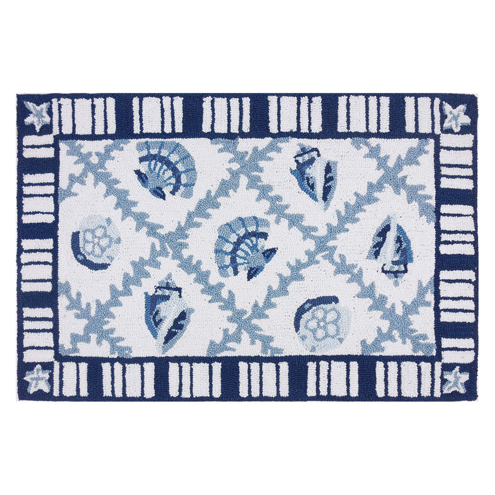Homefires Navy Blues Indoor Accent Rug