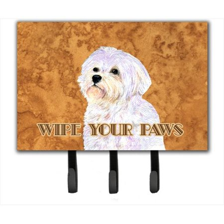 Carolines Treasures SS4898TH68 6 x 9 in. Puppy Cut Maltese Wipe Your Paws Leash or Key Holder - image 1 de 1