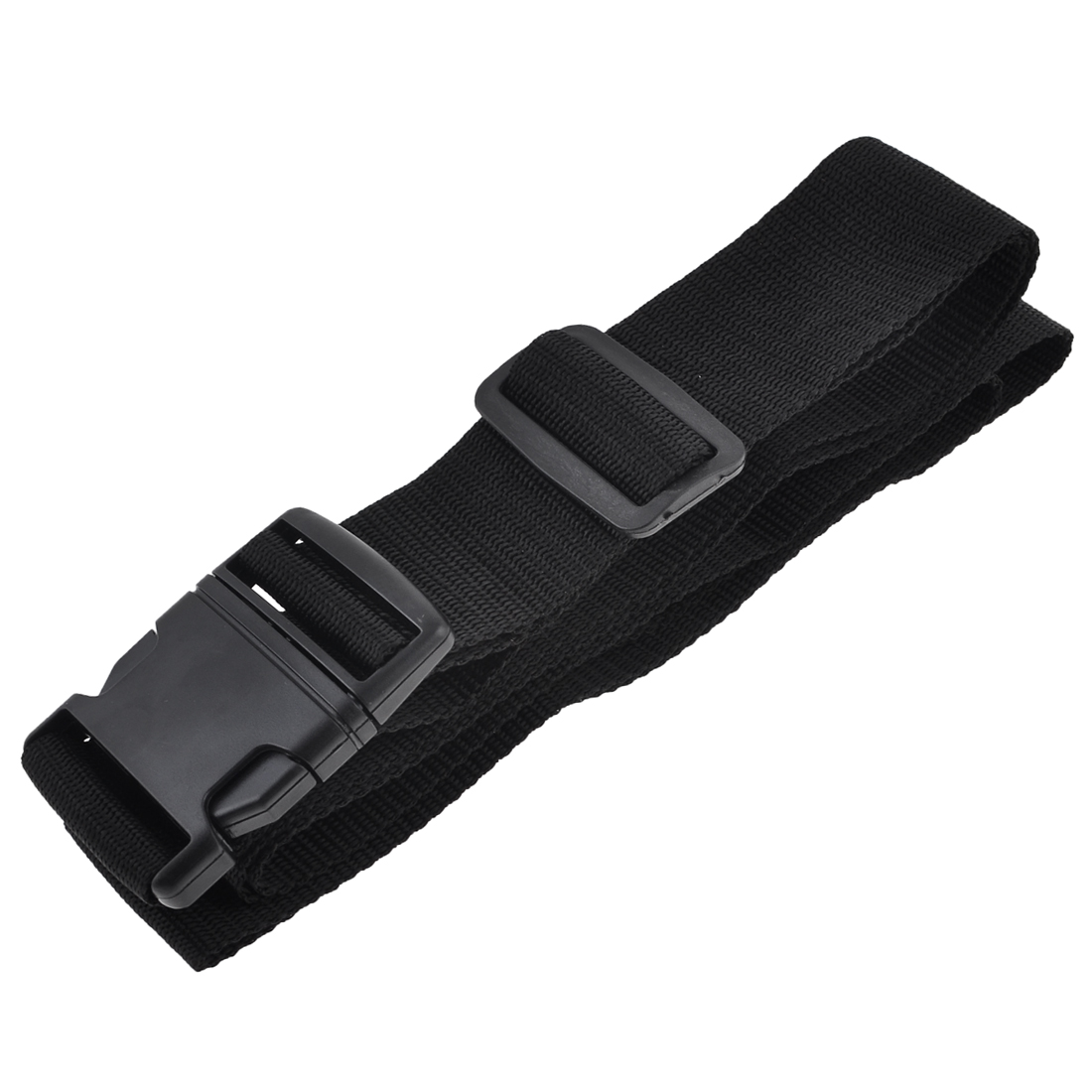 Unique Bargains Release Buckle 3 Digits Black Nylon Locking Luggage Strap 6.63Ft - image 1 de 1
