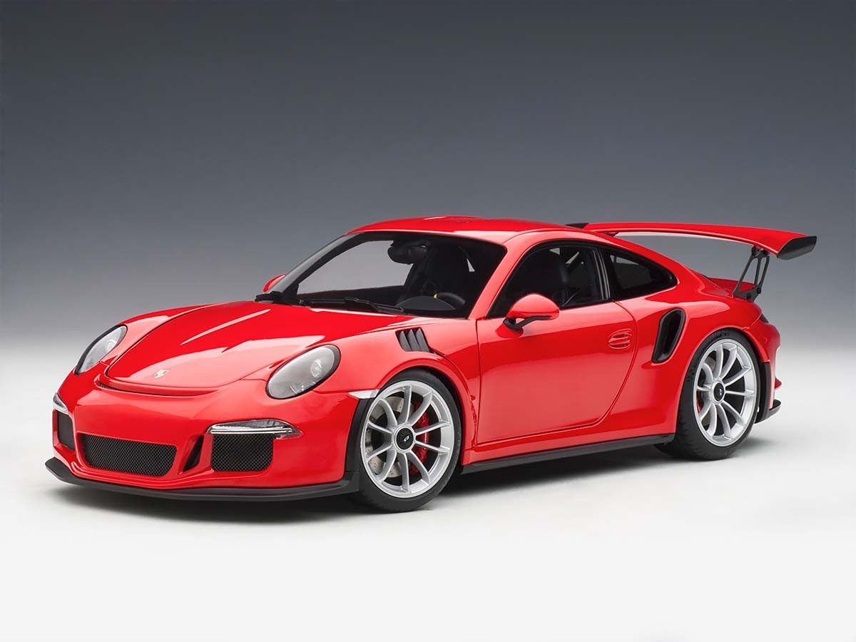 Porsche 911 (991) GT3 RS Guards Red with Silver Wheels 1 ...