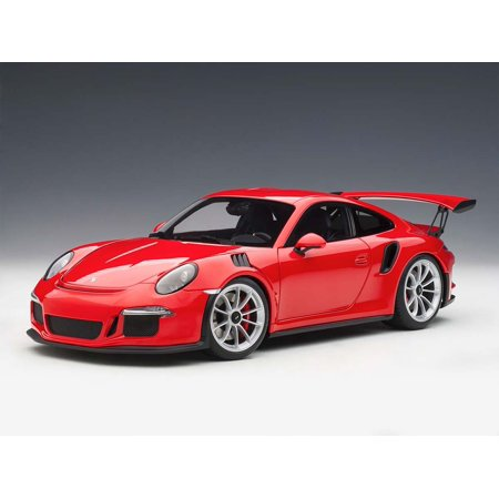 Porsche 911 (991) GT3 RS Guards Red with Silver Wheels 1/18 Model Car by Autoart